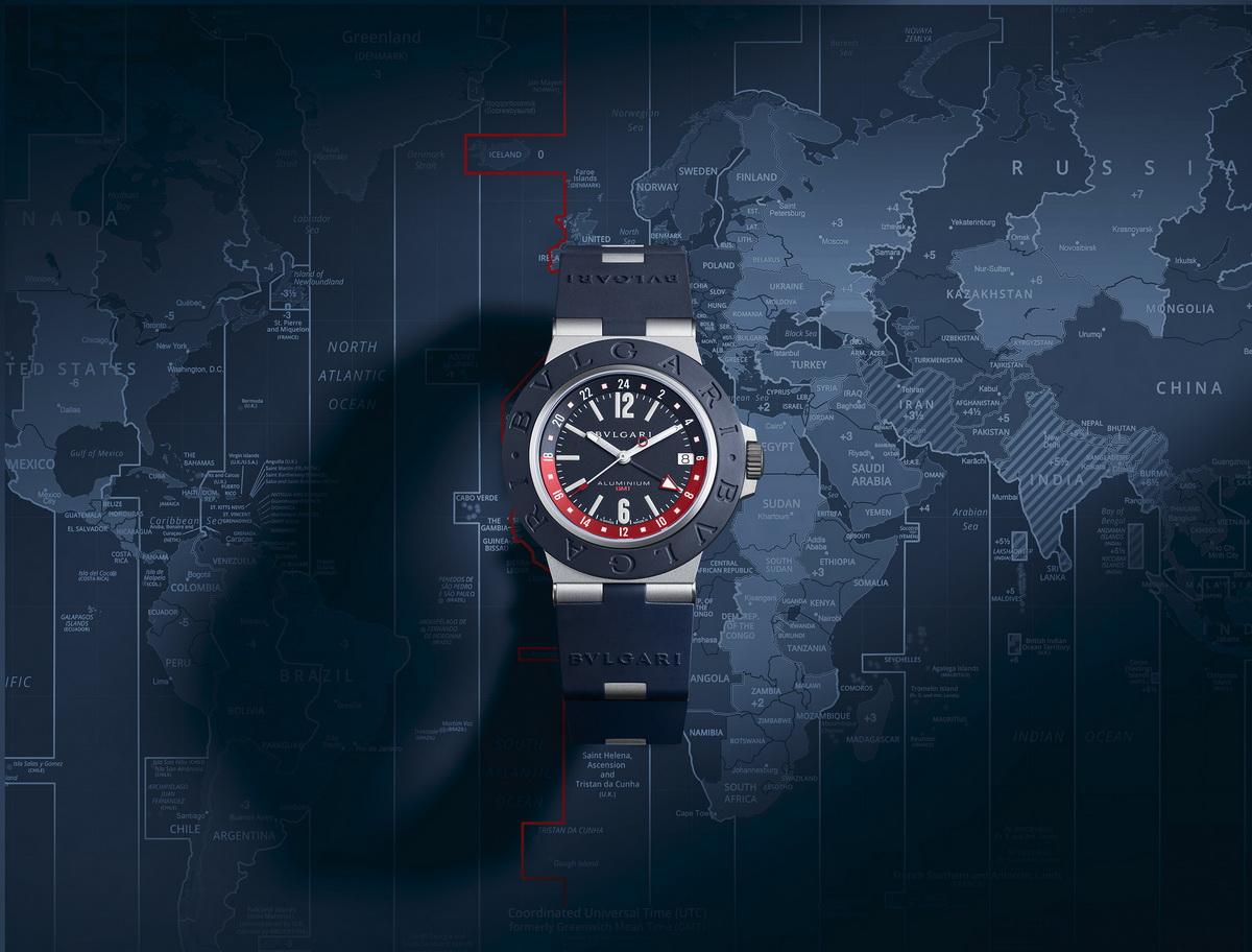 Время для Bvlgari Aluminium GMT