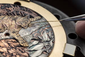 Часы Blancpain в технике сякудо, дамаскинажа и гравировки